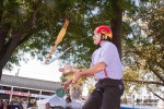 TomFoolery juggles a Rubber Chicken, a Knife and a Plunger at the City of Oxnard Earth Day. Trust us, it all makes sense!